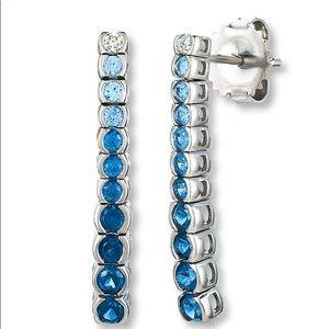 Jared dangle 14k Saphire diamond earrings